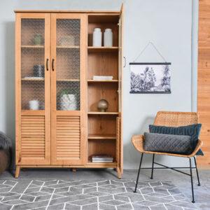ספריות מעוצבות מעץ לסלון